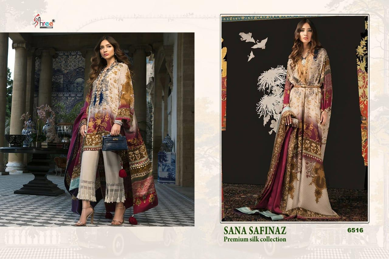 0004f7beae Shree Fabs sana safinaz premium silk Collection Salwar Kameez Catalog