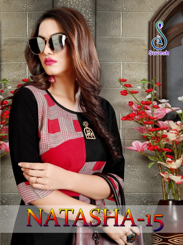 Suvesh natasha vol 15 elegant wear Kurties Collection At Wholesale Rate