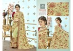 triveni bright colorful party wear sarees catalog