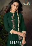 Vardan designer gulnaz vol 2 Heavy rayon long gown Kurties Collection
