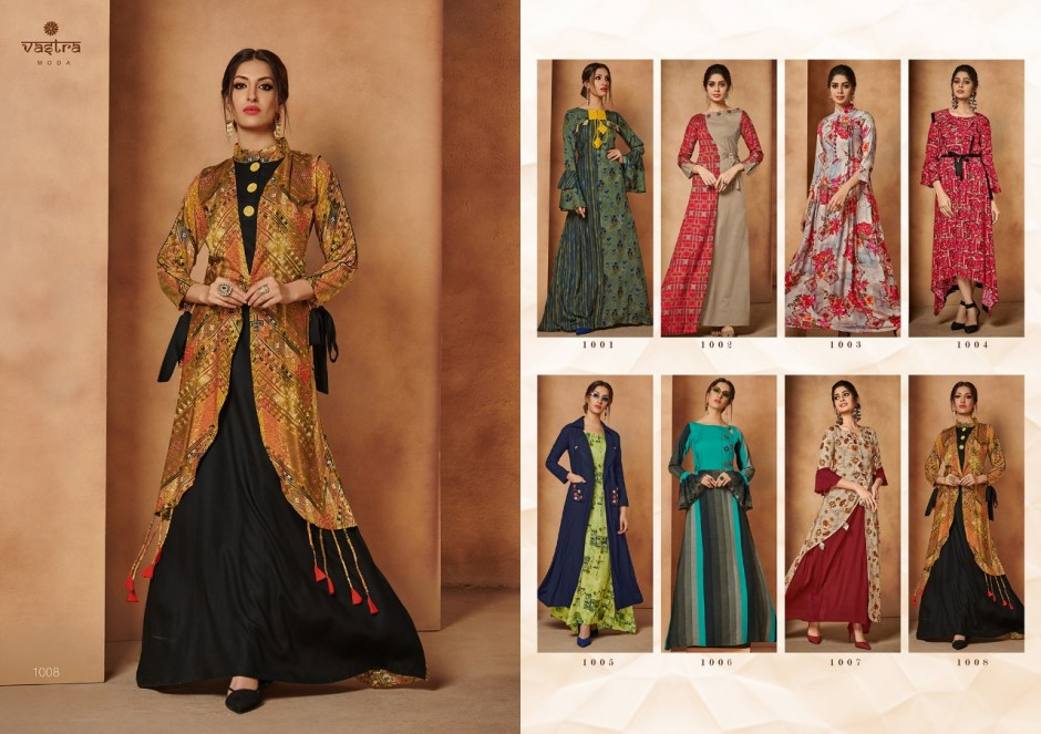 Vastra moda rohini vol 1 premium long gown type party wear kurties Catalog