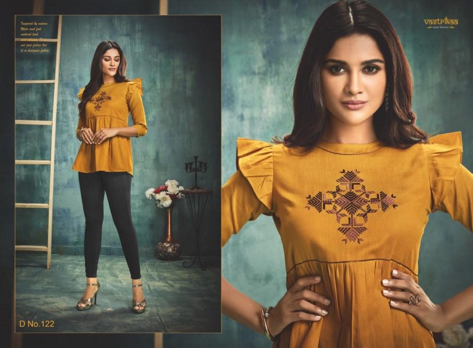 Vastrikaa glory tops ready to wear cotton short tunic catalog