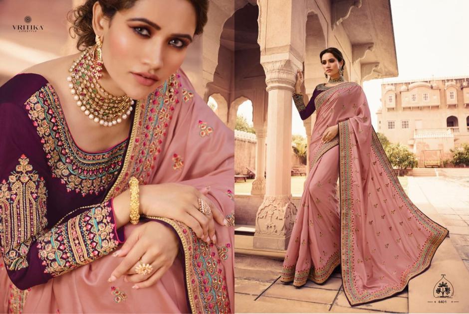 Vritika lifestyle swara vol 4 Colourful designer party wear sarees Collection