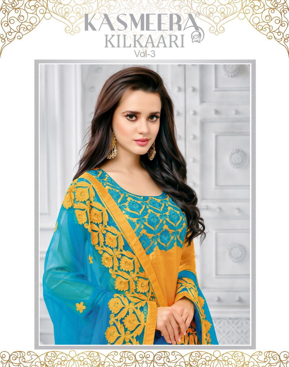 kashmeera killkari vol 3 colorful casual wear suits catalog at reasonable rate