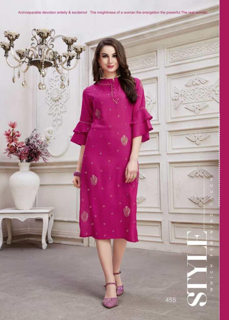 kSM nazakat colorful fancy ready to wear kurtis catalog