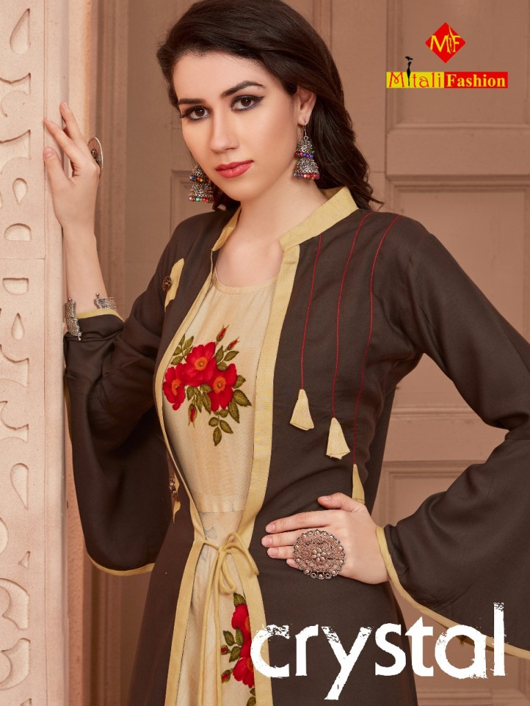 mitali crystal designer beautiful long gowns collection