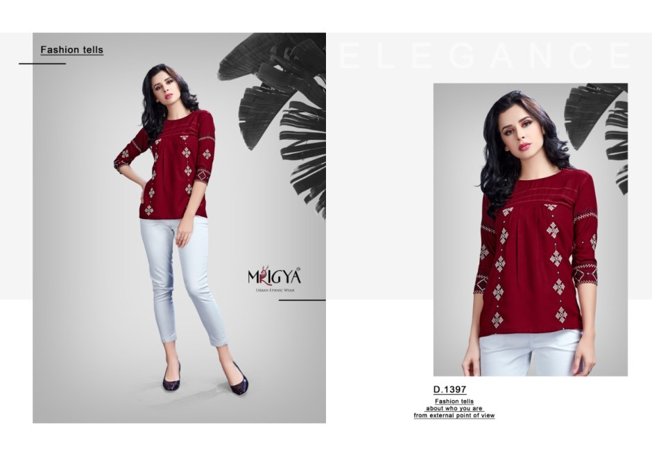 mrigya flora colorful casual wear tops at wholesale rate