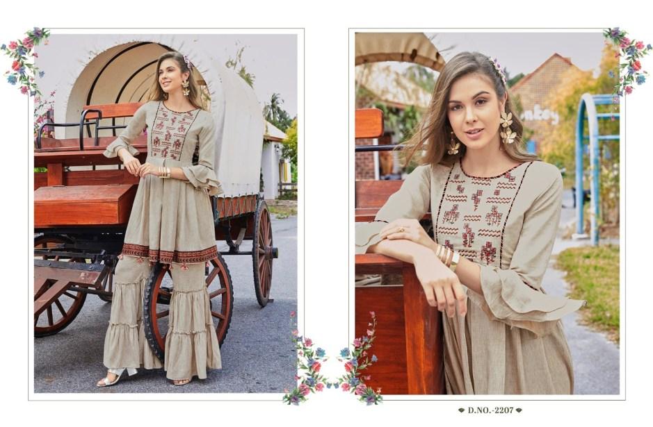 rangoon lashkara fancy ready to wear collection of kurtis