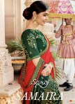 saroj samaira colorful fancy collection of sarees