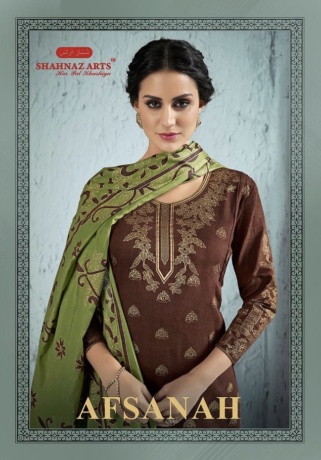 shahnaz afsanah colorful casual wear salwaar suits catalog at reasonable rate