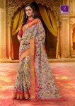 shangrila shakshi cotton vol 3 colorful casual wear sarees collection