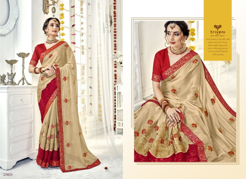 triveni selena colorful fancy collection of sarees at reasonable rate