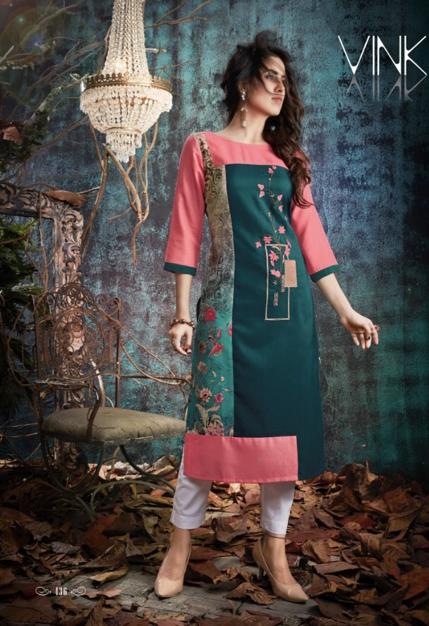 vink nova beautiful fancy kurtis collection at reasonable rate