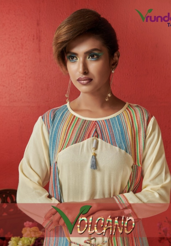 vrunda tex volcano casual wear kurtis catalog at reasonable rate