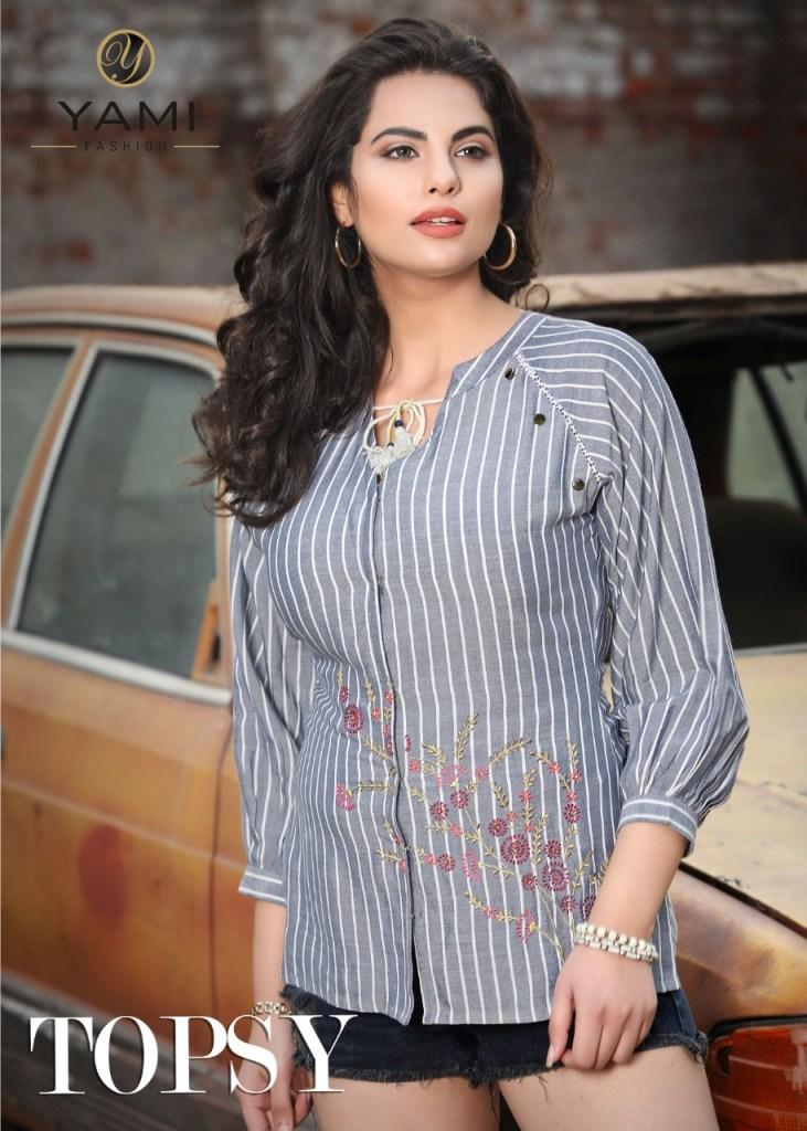yami fashion topsy casual wear tops catalog at wholesale rate