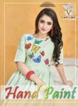 ladyview hand paint fancy ready to wear kurtis collection