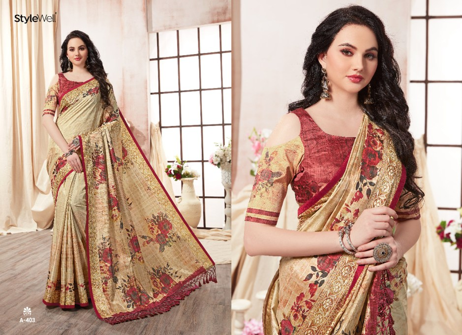 aakruti stylewell colorful fancy collection of sarees