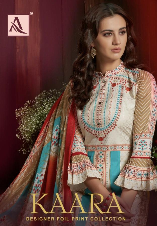 alok suits kaara fancy colorful collection of salwaar suits
