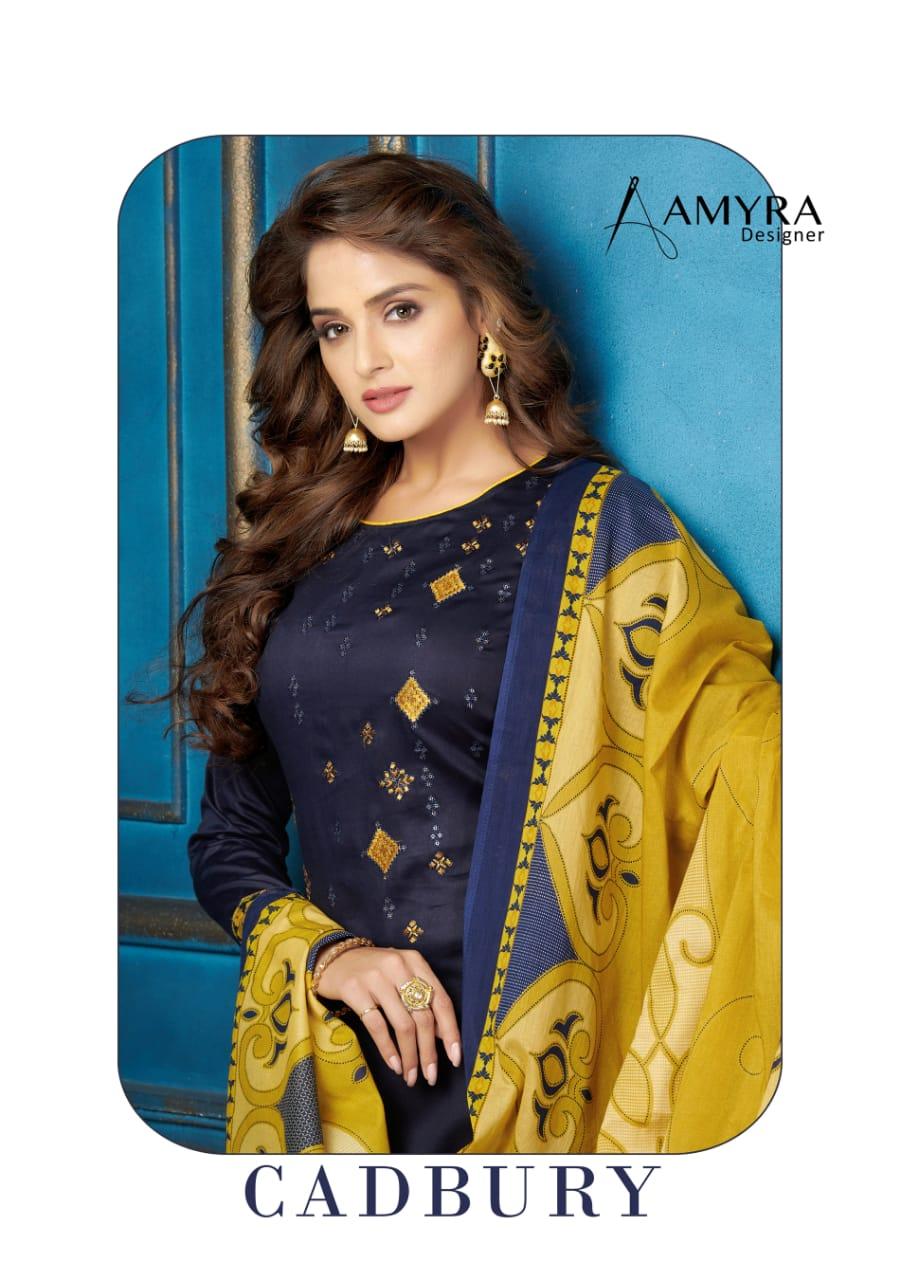amyra designer cadbury colorful fancy collection of salwaar suits