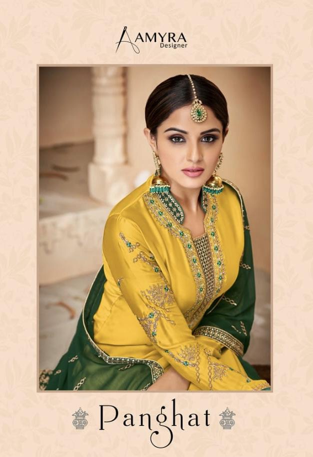 amyra designer panghat beautiful designer salwaar suits collectio