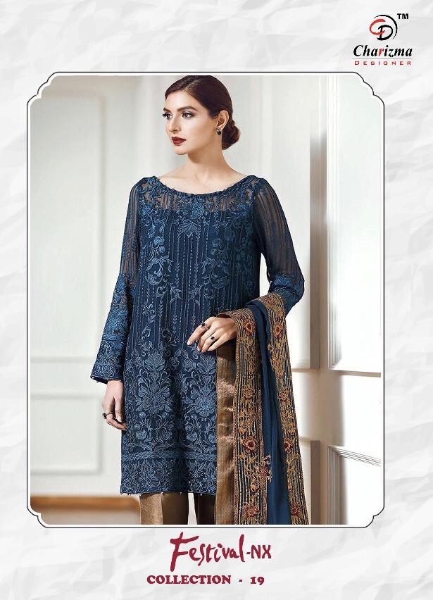 charizma designer fsstival nX 19 colorful fancy salwaar suit catalog