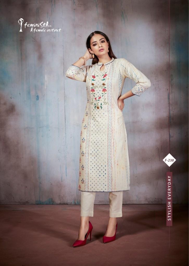 feminista  summer fancy casual wear kurtis catalog at reasonable rate