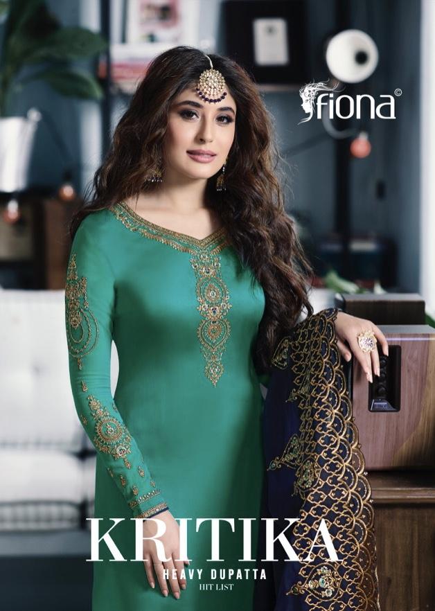 fiona kritika heavy dupatta hitlist colorful designer collection of salwaar suits