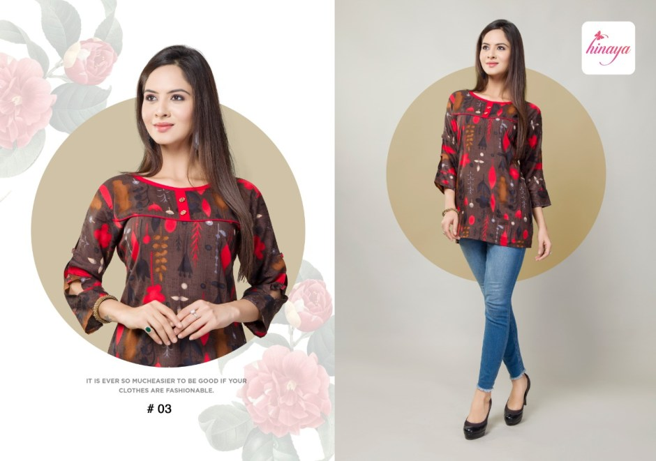 hinaya trendz vol 3 colorful short tops catalog at reasonable rate