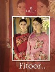 kalista  fashion fitoor designer colorful sarees collection