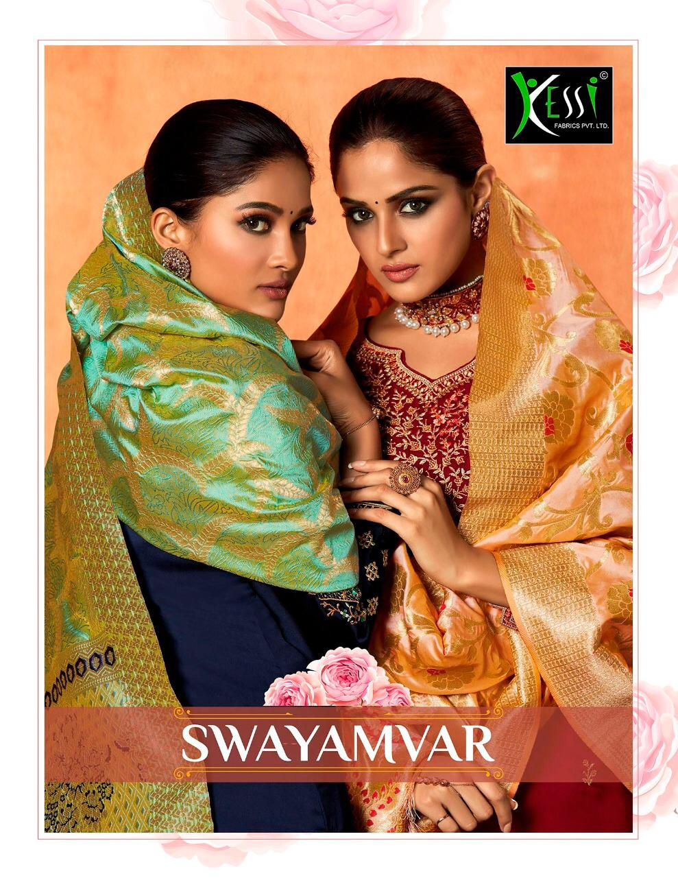 kessi fabrics swayamvar colorful fancy collection of salwaar suits