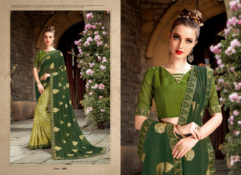 priya paridhi mantra colorful fancy sarees catalog at reasonable rate