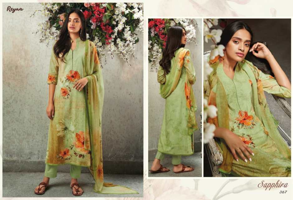 reyna sapphire colorful fancy collection of salwaar suits
