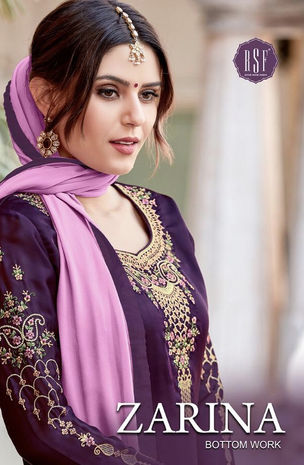 rSF zarina bottom work colorful fancy collection of salwaar suits
