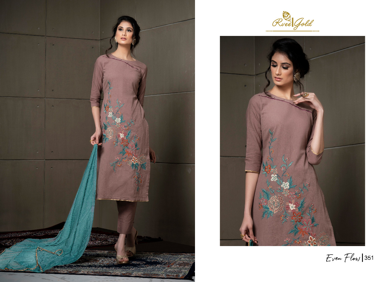 rvee gold even flow fancy collection of salwaar kameez