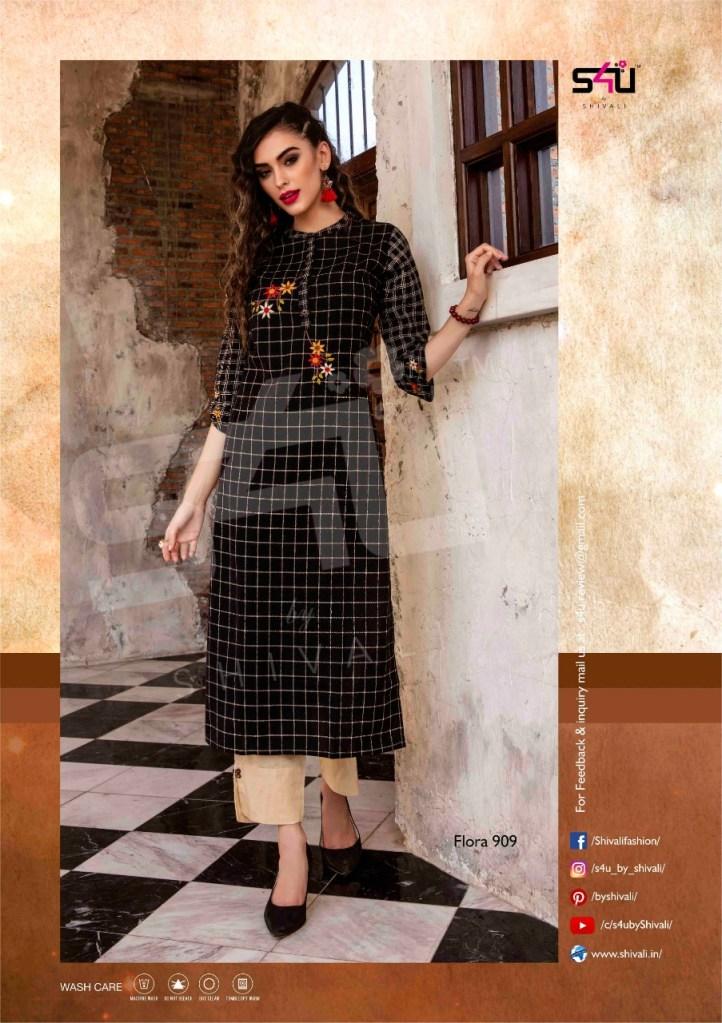 s4U fashion flora vol 9 colorful ready to wear kurtis catalog at reasonable rate
