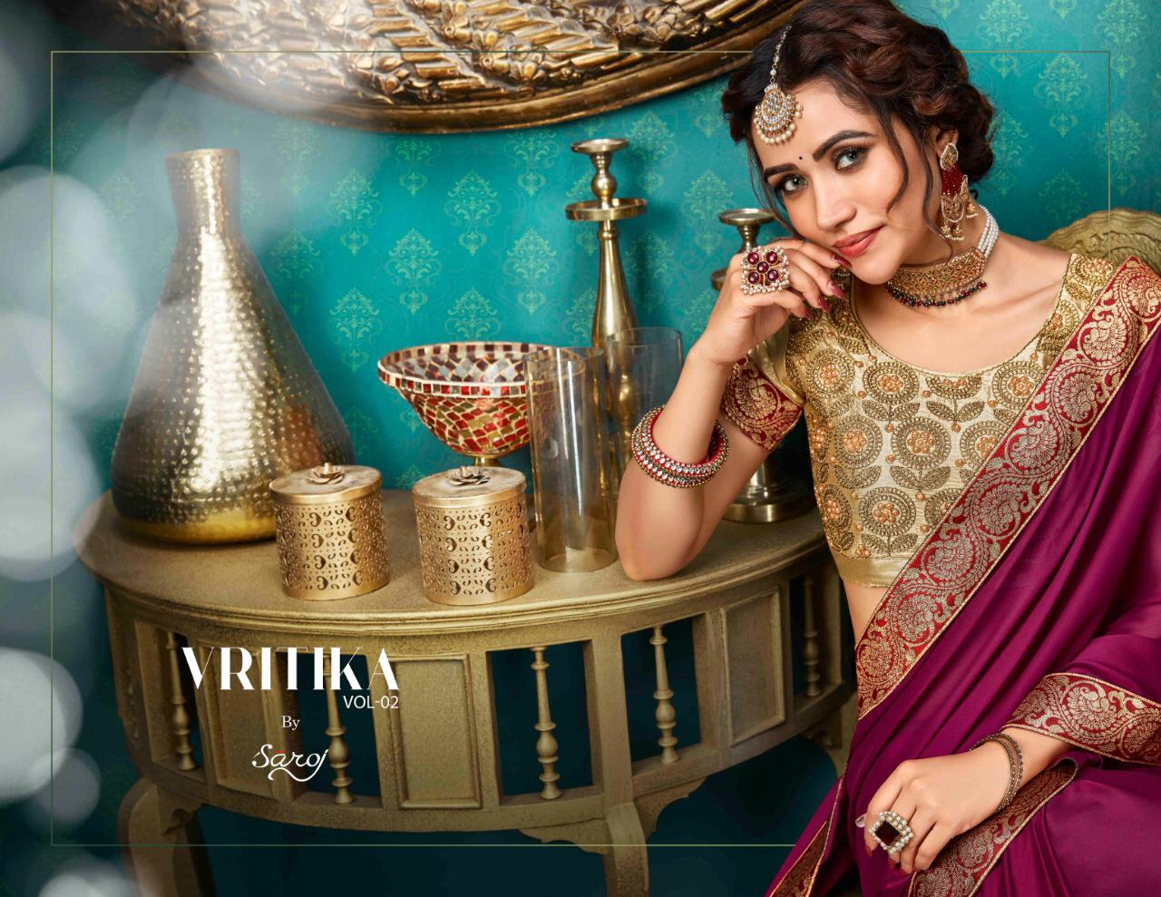 saroj vritika 2 colorful fancy collection of sarees