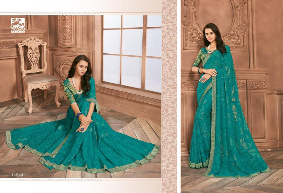 vishal sarees embrace colorful fancy wear sarees collection
