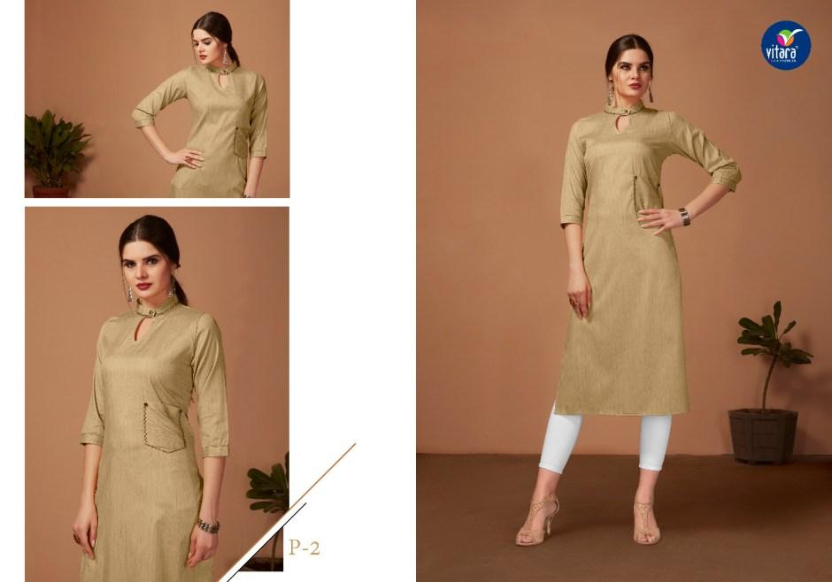 vitara fashion hazel beautiful ready to wear kurtis collection