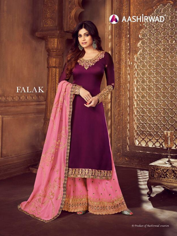 Aashirwad creation falak sharara heavy festive wear outfit