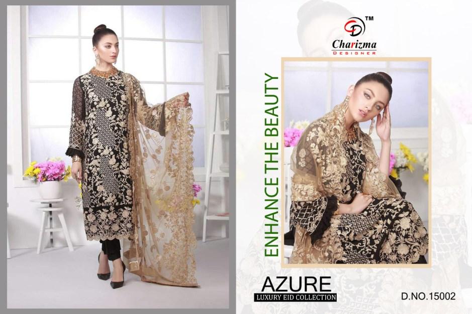 Charizma designer azure luxury eid collection karachi salwar kameez