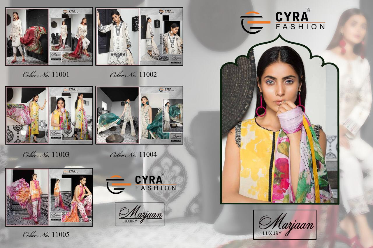 1eda54cfe6 Cyra fashion marjaan luxury collection digital printed salwar kameez