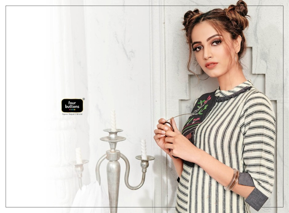 Four buttons soul vol 2 elegant daily wear kurties catalog