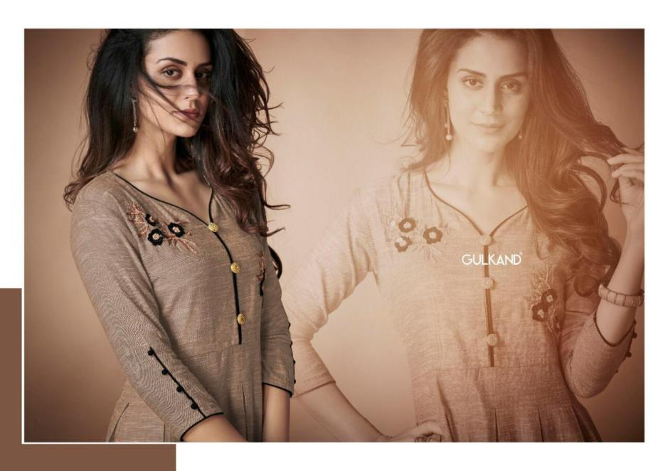Gulkand designer presents kangan party wear tunics at wholesale price