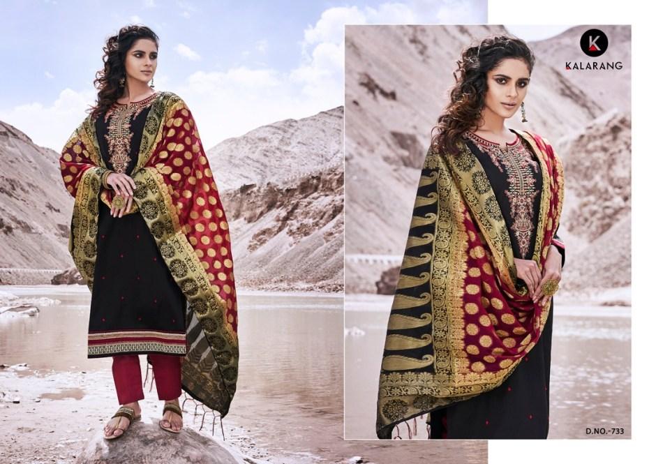 Kalarang alankar vol 8 party wear dress Material collection
