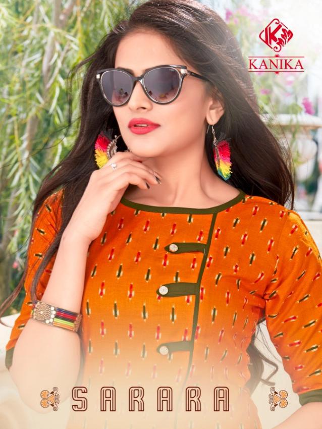 Kanika sarara vol 1 rayon printed kurties with sarara collection
