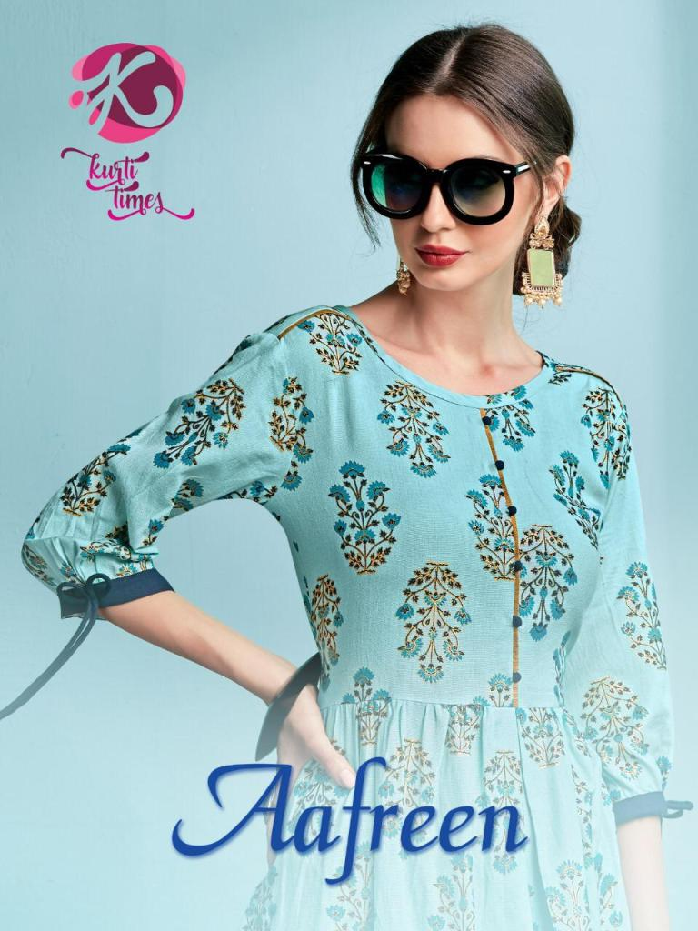 kurti times afreen fancy ready to wear kurtis at reasonable rate