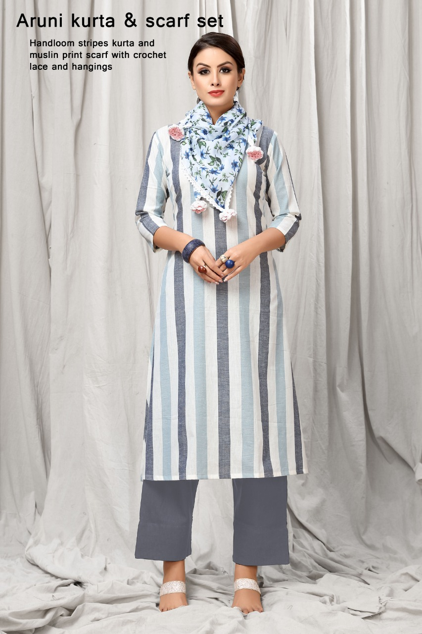 Mrigya aruni kurti and scarf piece