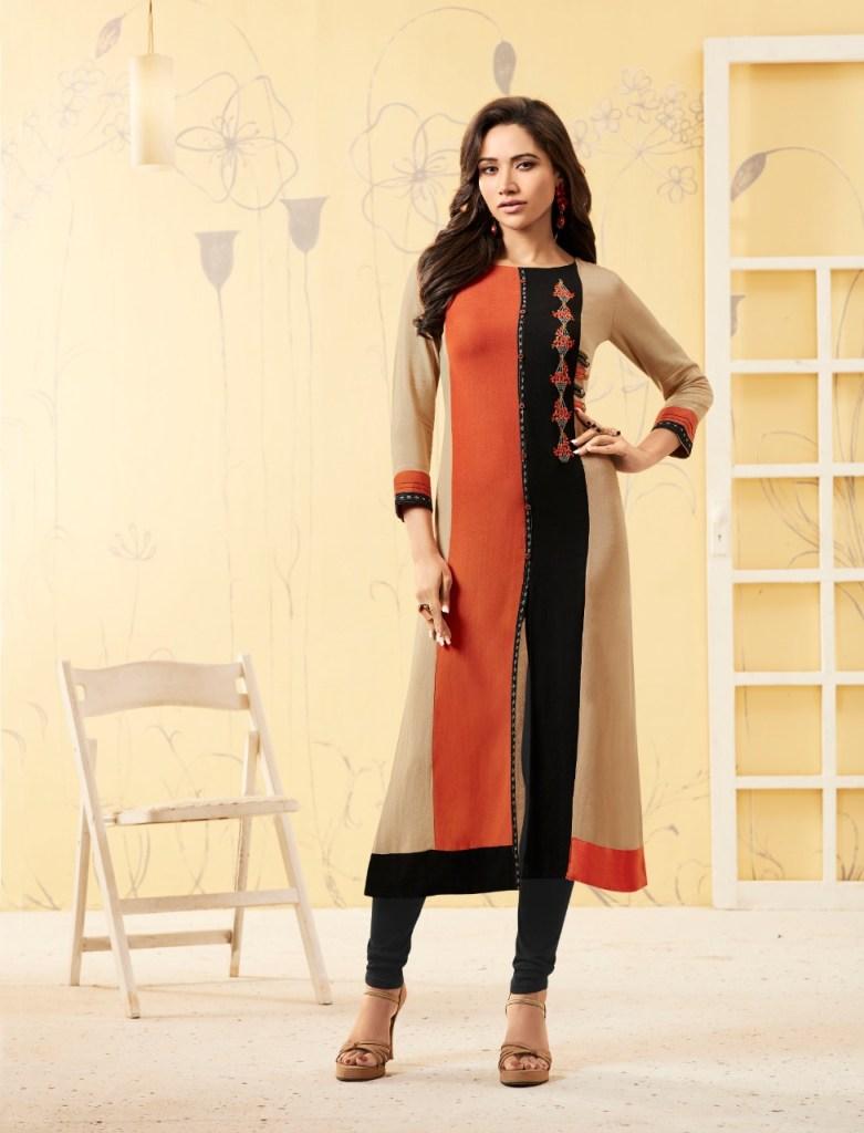 Rangoon elaichi casual wear straight rayon kurties collection