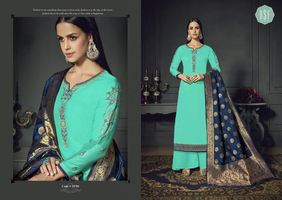 rsf gulbanaras colorful fancy collection of salwaar suits