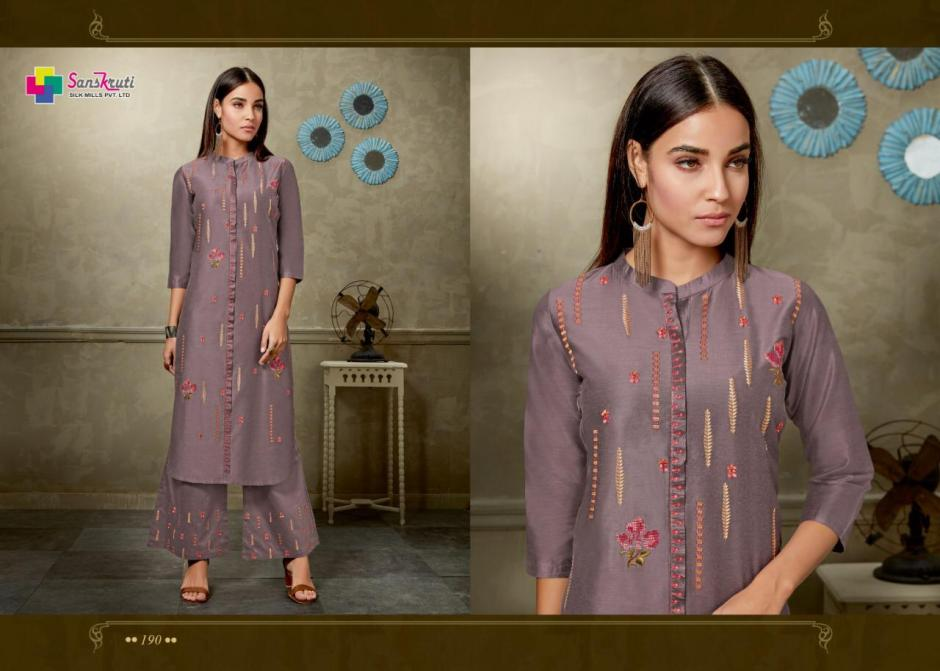 sanskruti mannam colorful fancy collection of kurtis with pants